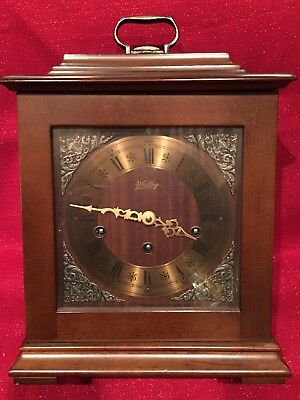 Vintage Mid Century West German Elgin Bracket Chime Clock Westminster Running