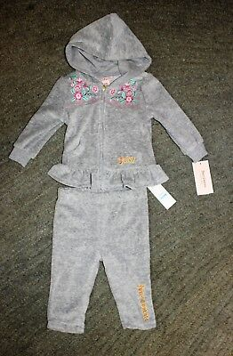 c5f18f61cc3d Juicy Couture Baby Girls 2 Piece Gray Jogging Outfit - Size 6-9 Months -