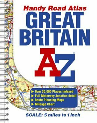 Great Britain Handy Road Atlas Paperback Book The Cheap Fast Free Post