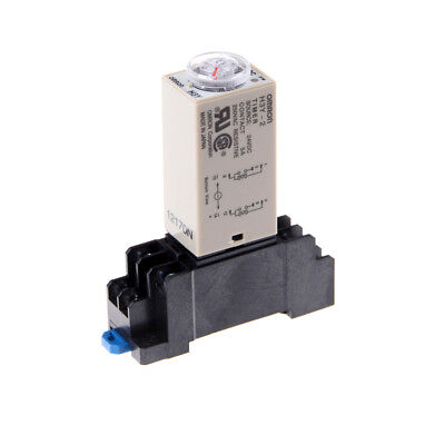 DC 24V H3Y-2 Power On Time Relay Delay Timer 0-60 Second DPDT & Base Socket AS
