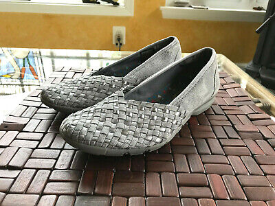 d3ad55f608e WOMEN SKECHERS RELAXED FIT CAREER PUZZLING SLIP-ON SHOE 49212 GRAY - size 8  M