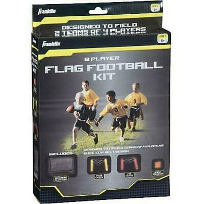 Franklin 8-Players Flag Red&Yellow Belts Bag Marker Football Kit Lot#EB77