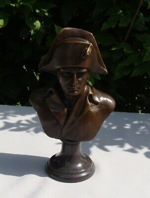 Statue Sculpture Bust Napoleon French Style Solid bronze Signed