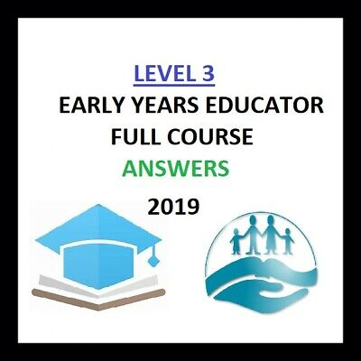 CACHE Level 3 Early Years Educator Full Course ANSWERS 2019