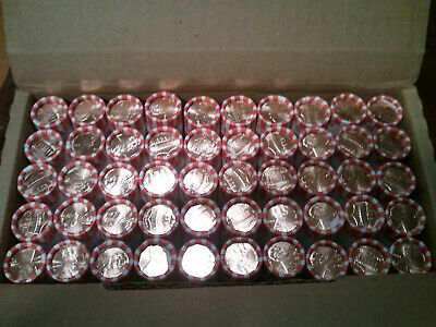 Lot Of (50 Rolls) 2019~D Lincoln Shield Cents ~ Original Bank Wrapped Rolls