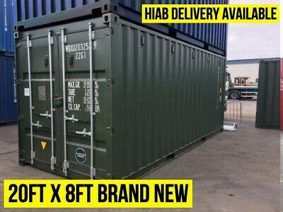 20Ft Iso Shipping Container - Cardiff South Wales - New One Trip Iso Containers
