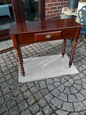 Table: A lovely Reproduction Victorian design Mahogany Single drawer Hall Table