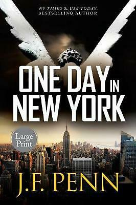 One Day in New York: Large Print by J.F. Penn (English) Paperback Book Free Ship