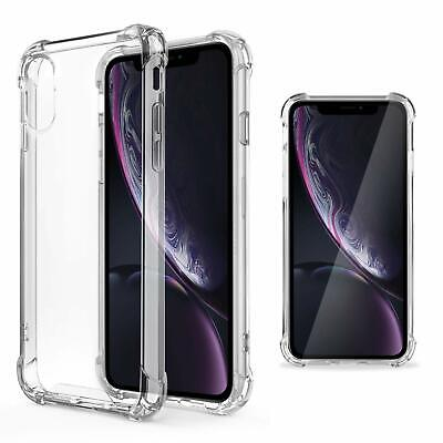 Moozy Coque Silicone Transparente Pour Iphone Xr - Anti Choc Crystal Clear Case