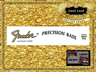 Fender Precision Bass Guitar Headstock Decal Restoration Waterslide inlay  33g