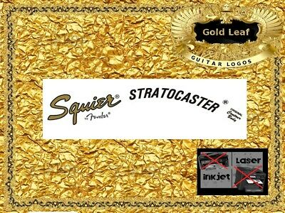 Fender Stratocaster Guitar Headstock Decal Restoration Waterslide inlay logo 54g