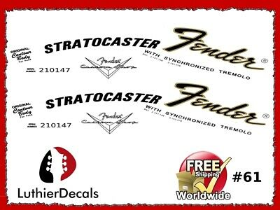 Fender Stratocaster Lefthand Guitar Decal Headstock Decal Waterslide 61