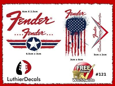 Fender Stratocaster Guitar Decal Headstock Decal inlay Waterslide 121