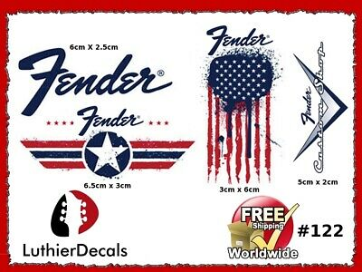 Fender Stratocaster Guitar Decal Headstock Decal inlay Waterslide 122