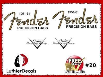 Fender Precision Bass Guitar Decal Headstock Decal inlay Waterslide 20