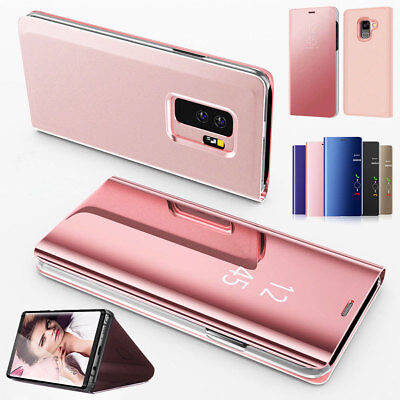 For Samsung Galaxy Note 10 9 8 4 5  Leather Flip Cover Window View Phone Case