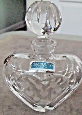 WATERFORD CRYSTAL PERFUME BOTTLE MARQUIS HEARTS LOVELY w LABEL INTACT POLAND