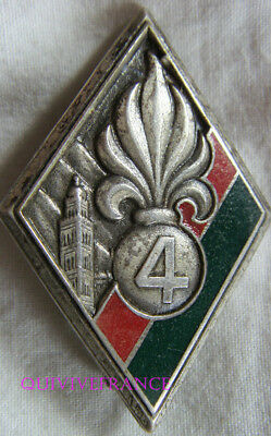 IN10002 - INSIGNE 4° Régiment Etranger, 4 relief, boléro Drago