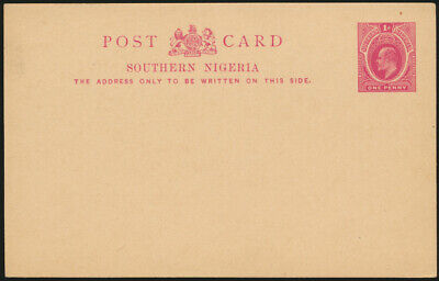 Africa Southern Nigeria Ganzsache P2 1 d. King Eduard postal stationery