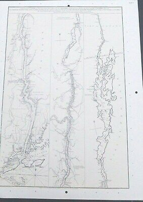 1777* Revolutionary War Survey Topo Map Hudson River, Lake Champlain, George etc