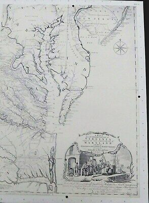 1777* Revolutionary War Survey Map Virginia Maryland PA NJ NC Wm Faden Atlas Etc