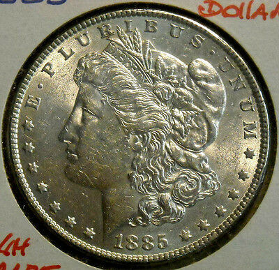 1885 Morgan Silver Dollar Nice High Grade Lightly Circulated Coin