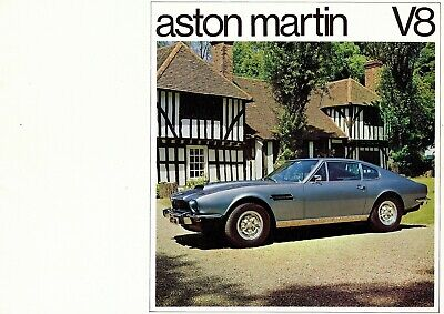 "ASTON MARTIN ""V8"" Coupé - 5340 CC - 1975 - Dutch sales catalogue, prospekte"