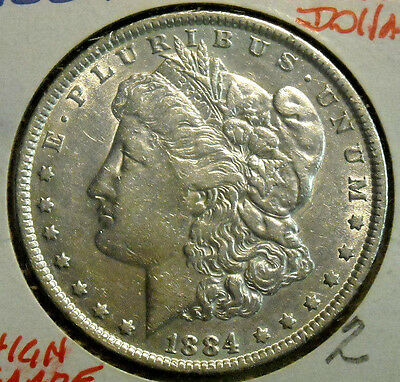 1884 Morgan Silver Dollar Nice High Grade Circulated Coin #2