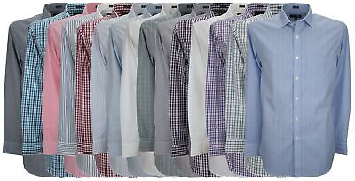Ex Store Mens Pure Cotton Wrinkle Free Single Cuff Shirt