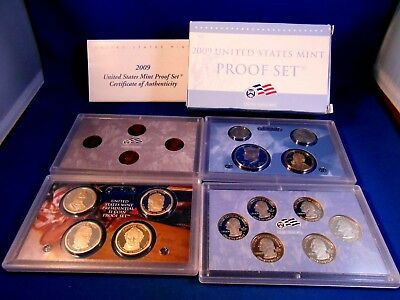 2009-S Us Mint Proof Set 18 Coins In Original Packaging With Coa No Problems