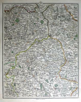 STAFFORDSHIRE  DERBYSHIRE CHESHIRE NEWCASTLE JOHN CARY GENUINE ANTIQUE MAP c1794