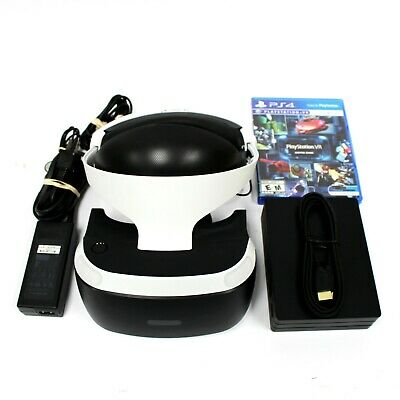 Sony PlayStation 4 PS4 VR Headset 2nd gen w/ All accessories except PS4 CAMERA