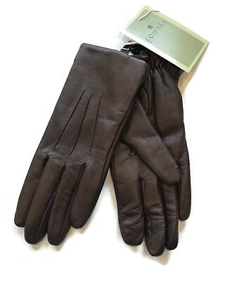 FOWNES  brown Leather Dress driving Gloves size 6 1/2
