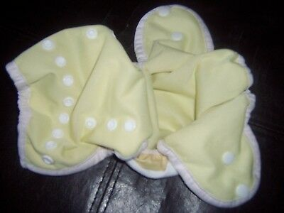Thirsties size one yellow cloth diaper cover euc