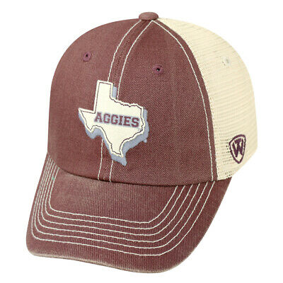 finest selection d7f1f 4d30a Texas A M Aggies Top of the World United Mesh Slouch Adj Snapback Hat Cap