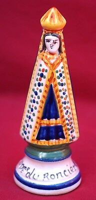 HENRIOT QUIMPER Our Lady of Bramble Figure Josselin French Faience A