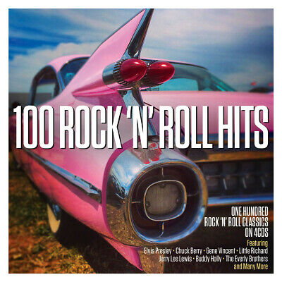 100 Rock 'N' Roll Hits - Fats Domino Bill Haley Jerry Lee Lewis - 4 Cds - New!!