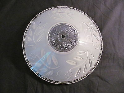 Frosted/Clear Glass Art Deco Vintage/Antique Floral Ceiling Light Fixture Shade