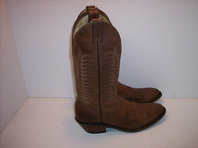 f19ab7b4d40 BOULET CANADA BROWN Distressed All Leather Western Boots Men's Size 8 E