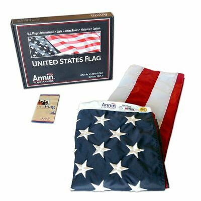 Annin US American Flag 3 x 5 ft 100% Nylon Embroidered Stars Premium Quality USA