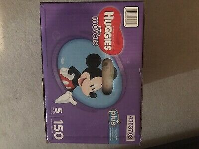 Huggies Little Movers  Size 5 Qty 150