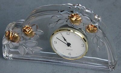 Walther German Made Shelf Mantel GLASS TIME CLOCK Excellent Shape