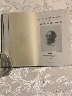 Selected Poems of Arthur Hugh Clough, ANTIQUE! 1894, 1st ed, 2nd printing