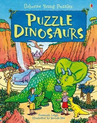 Puzzle Dinosaurs (Usborne Young Puzzles) by Susannah Leigh Hardback Book The