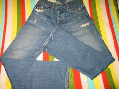 Abercrombie & Fitch Mens Jeans Remsen Low Rise Slim Straight destroyed W 30 L 32