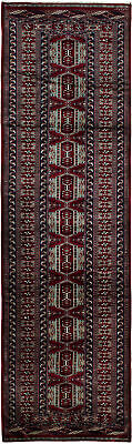 "Hand-knotted Russian Carpet 2'8"" x 9'4"" Shiravan Bokhara Traditional Wool Rug"