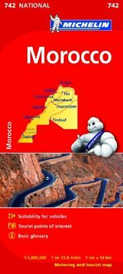 Morocco NATIONAL Map (Michelin National Maps) by Michelin Book The Fast Free