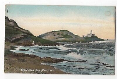 Broad Slade Bay Mumbles Swansea Wales 1906 Wrench Postcard 950b