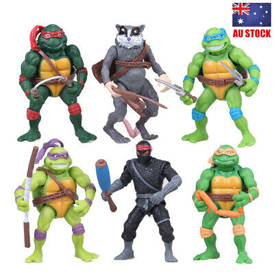 TMNT Teenage Mutant Ninja Turtles 6 PCS Action Figure Collection Kids Toys Gifts