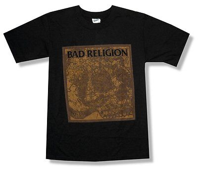 Bad Religion Hell Map Black T Shirt New Official Adult Small